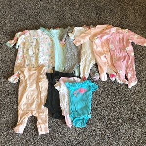 Infant Sleepers Size 0-3 months Bundle